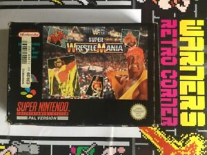 Super-Nintendo-SNES-WWF-Super-Wrestlemania-Retro-gaming-Game-W-Manual-Boxed