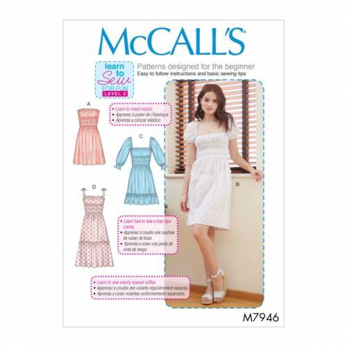 McCalls Sewing Pattern abiti da 7946 AX5 4-6-8-10-12