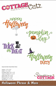 CottageCutz Halloween Phrase /& More Metal Cutting Plate Die CC-379