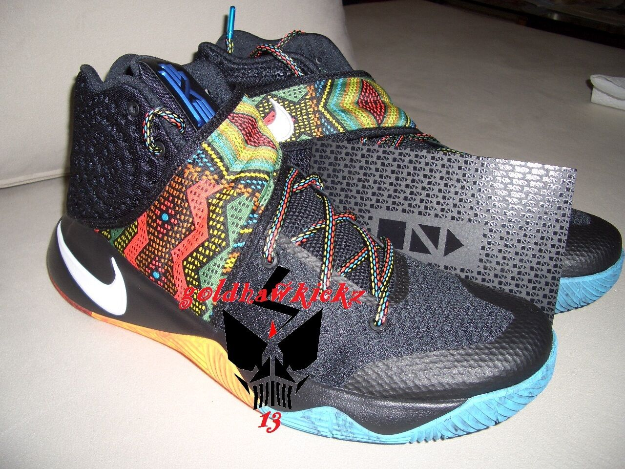 Nike KYRIE 2 BHM Black History Month Limited Edition black multicolor uncle drew
