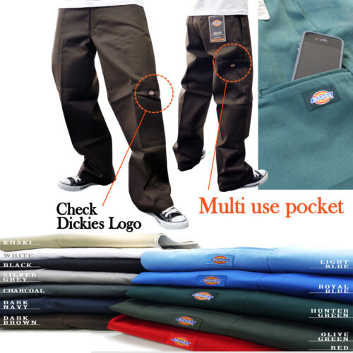 NWT AUTHENTIC MEN 11 DIFFERENT COLORS OF DICKIES PANTS #85283 SIZE 26 UP TO 58