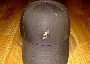 e2708d9ab06 Image is loading Denim-Brown-Kangol-Flexfit-Denim-Baseball-Cap