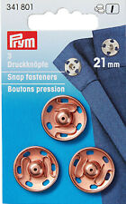 3 Prym Pushbuttons for Sewing 21 mm Rose Gold 341801