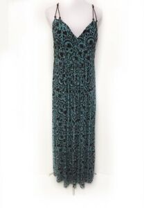 Dress Paisley Brown Zara Details Stretch 12 Turquoise Maxi Blue Floral About 29IWYEDH