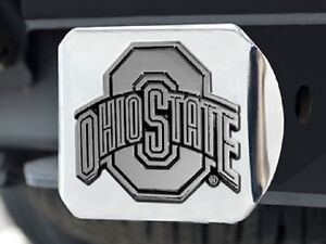 Ohio State Buckeyes Heavy Metal Trailer Hitch Cover New
