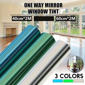 Uncut Window Tint 15/% VLT One Way Privacy Silver Mirror Film Heat Reduce Reflect