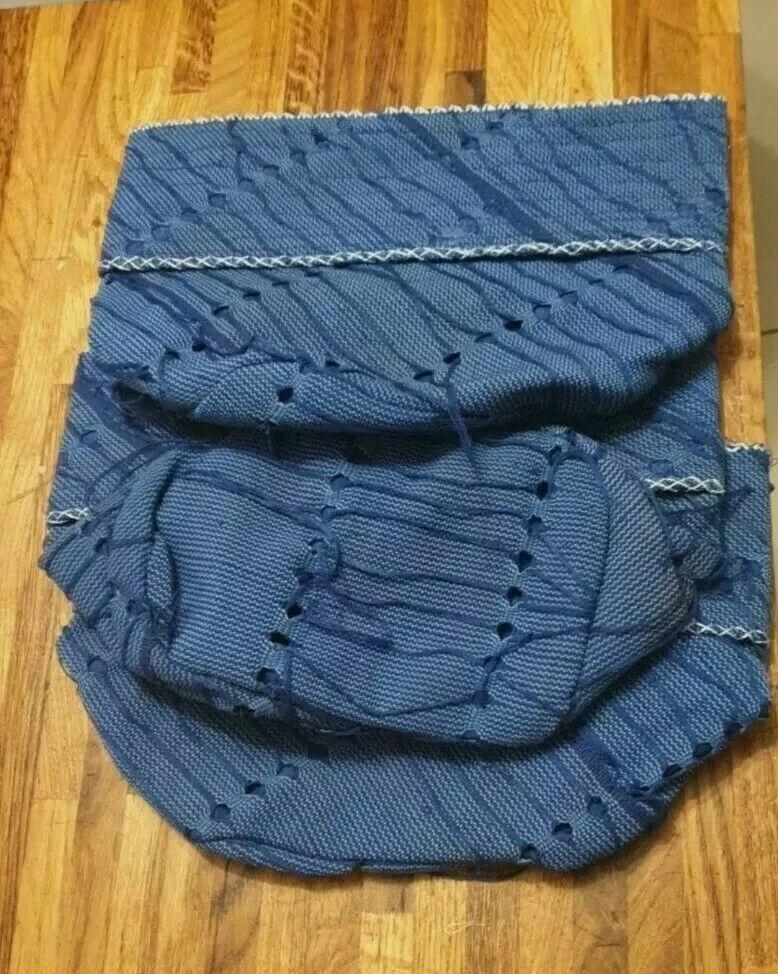 NEW NIGERIA Aso Oke Men's CAP(FILA) NAVY BLUE COLOUR. SIZE 23
