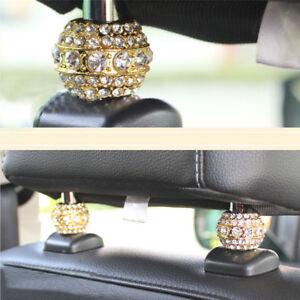4X-Crystal-Diamond-Car-Seat-Headrest-Collar-Decor-Women-Car-Interior-Accessories