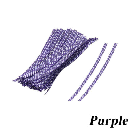Home Package Cake Cellophane Dot Print Twist Ties Metallic Wires Bag Sealing