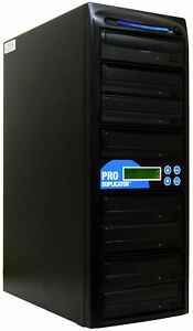 ProDuplicator 7 Burner 24X CD DVD Duplicator Multiple Media Disc Copier Tower