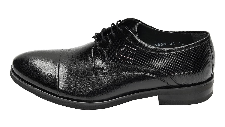Muga Herren Leder Schuhe *577*Gr.42 Schwarz
