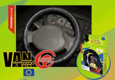 """STEERING WHEEL COVER Truck Van Motorhome  genuine leather  black 17"""""""