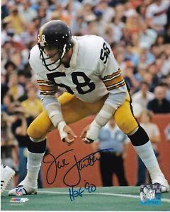 Autographed Jack Lambert HOF 90 Pittsburgh Steelers 16x20 Photo with COA