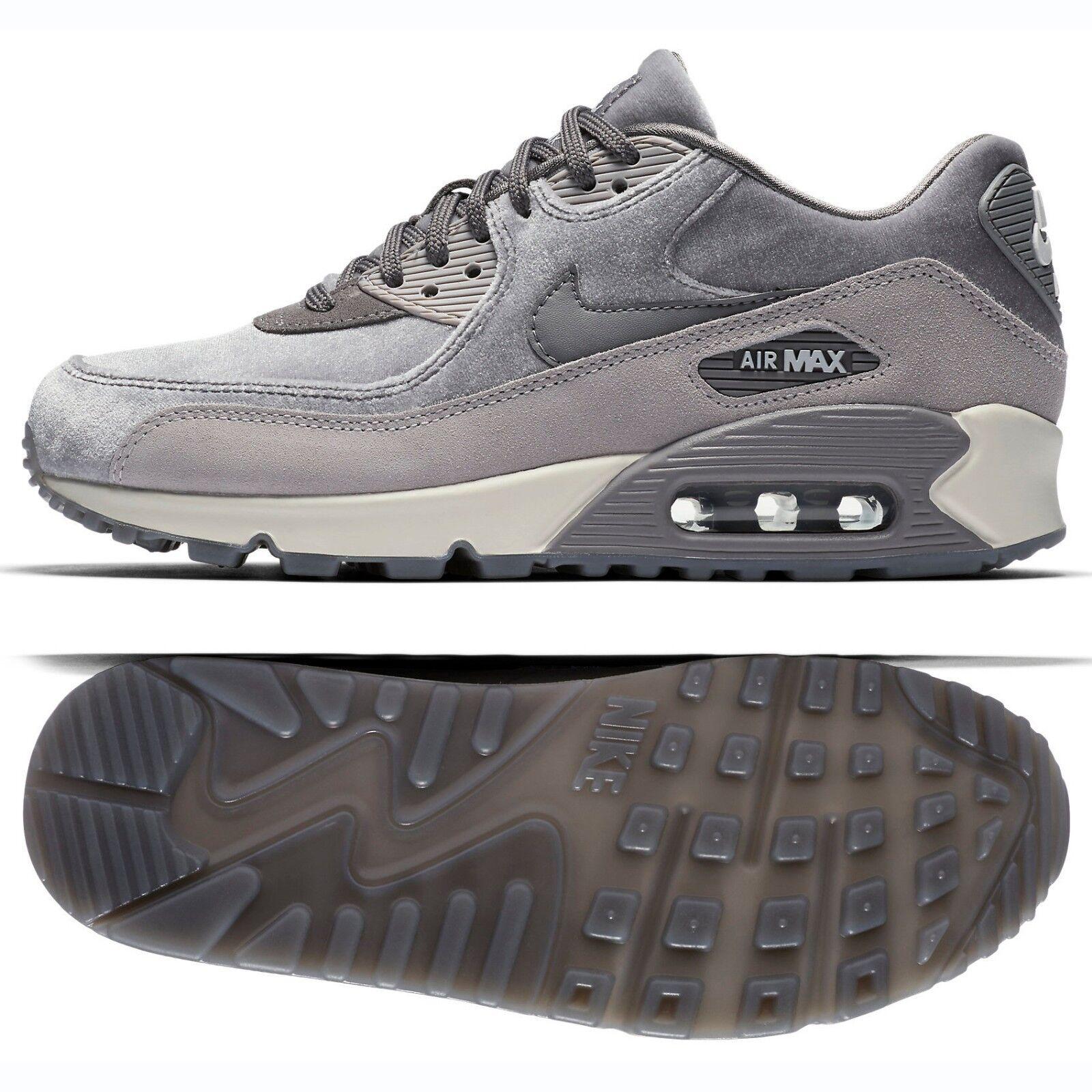Nike Grey WMNS Air Max 90 LX 898512-007 Gunsmoke Grey Nike Atmosphere Suede Women's Shoes 47735c