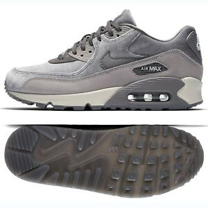 Details about Nike WMNS Air Max 90 LX 898512 007 Gunsmoke Grey Atmosphere Suede Women's Shoes