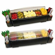 Co Rect Cc0008 Six Pint Inserts Roll Top Condiment And Garnish Station