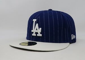 231a6a17fec New Era 59Fifty Hat MLB Los Angeles Dodgers Royal Blue Mens T-Stripe ...