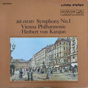 RCA-LIVING-STEREO-LSC-2537-SHADED-DOG-BRAHMS-SYMPHONY-NO-1-VPO-KARAJAN-EX-NM