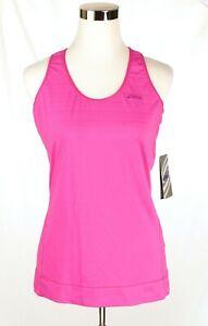 NWT-Asics-Women-Pink-Athletic-Tank-Top-Semi-Fitted-Medium-Hydrology-No-Bra-NEW