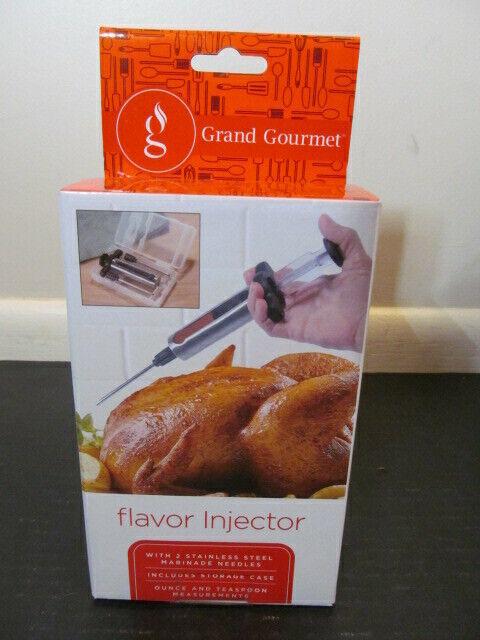Grand Gourmet Stainless Steel Turkey Flavor Injector w// 2 Needles