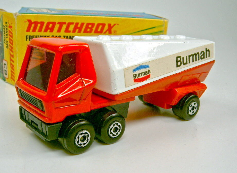 Matchbox SF No 63b Freeway Tanker  Burmah  Two Different Stickers