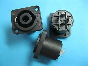 15-Pcs-SPEAKON-4-Pole-Female-Jack-Compatible-Audio-Cable-Connector-Black-5281