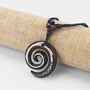 Resin Tribal Black Rasta Keltic Spiral Swirl Charms Pendants Necklace Adjustable