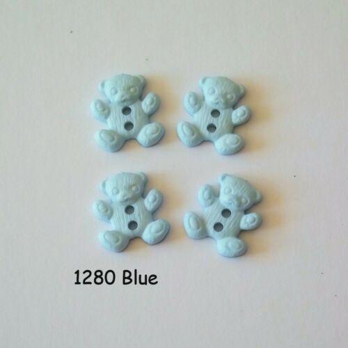 Teddy Buttons 15mm Buttons 2b1280 2 hole buttons Blue Teddy Bear Buttons