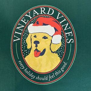 Vineyard-Vines-Mens-L-S-Green-Pocket-T-shirt-Xmas-Christmas-Good-Boy-Sz-S-NEW