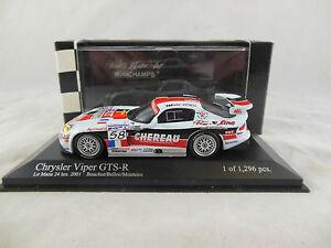 Rare Minichamps 400 011458 Dodge Viper Gts-r 24h Le Mans 2001 Bouchat / belloc 4012138040366