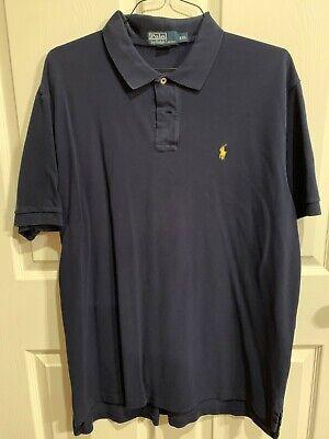 Ralph Lauren Navy Blue Men's Polo Shirt XXL with Yellow Horse   eBay