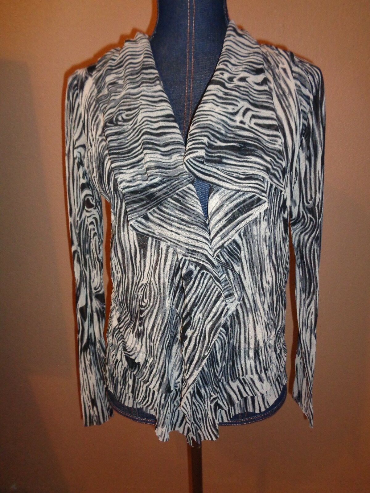 FUZZI S. Giovanni in Marignano Tierot Mesh Nylon Jacket Top Größe M Made in