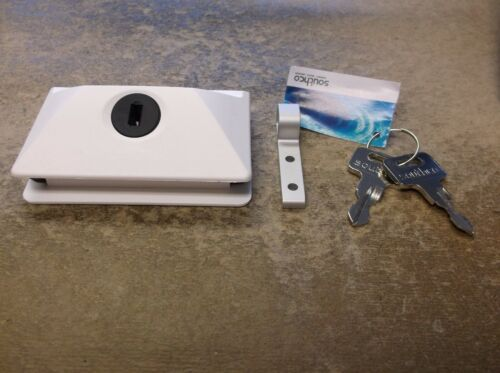 NEW SOUTHCO MOBELLA BOAT MARINE RV WHITE HEAD CABIN ENTRY DOOR LATCH LOCK