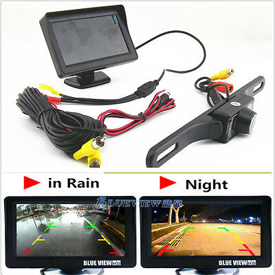 "Car & Truck Parts Infrared Night Vision Reversing Camera 4.3"" Tft Sun Shade Screen Monitor Display Refreshing And Enriching The Saliva"