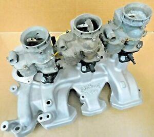 Edelbrock-C-396-Nestalgic-49-56-Olds-Intake-Tri-Power-W-3-Ford-8AB-Core-Carbs