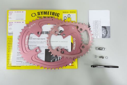 Osymetric BCD110x4 52+38T FC-R9100 9100 Edition Bicycle Chainring Set Giro Pink