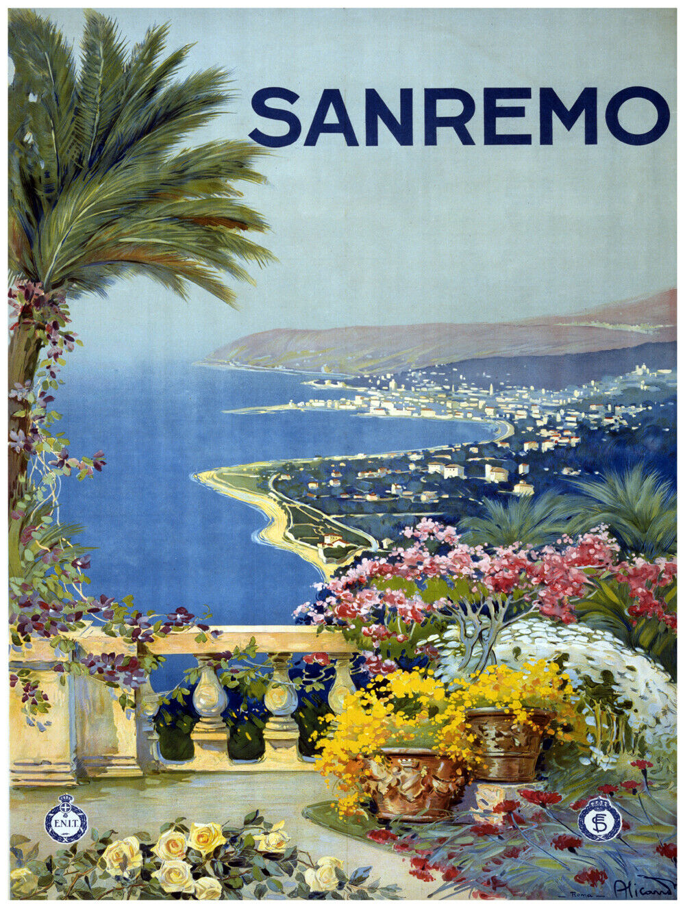 7789.Decoration Poster.Home Room wall interior art design.Sanremo.Travel decor