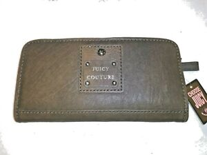 JUICY-COUTURE-LEATHER-GRAY-SLIM-WALLET-NWT-SUPER-CUTE-AND-VERSATILE