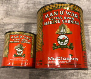 Vintage Man O'War Ultra Spar Marine Varnish Can Quart ...