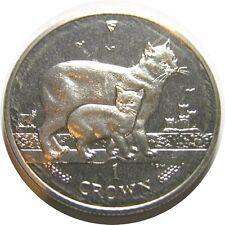 elf Isle of Man IOM 1 Crown 2012 Manx Cat 25th Anniversary