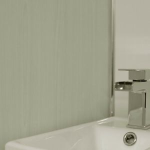 white ash wood style effect pvc cladding bathroom wall