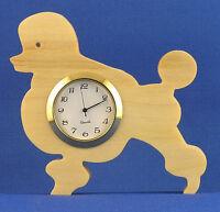 Poodle Mini Clock - Hand Cut W/ Choice Of Insert