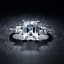 1-75Ct-Radiant-Cut-Diamond-Accent-Solitaire-Engagement-Ring-18K-White-Gold-Over thumbnail 1