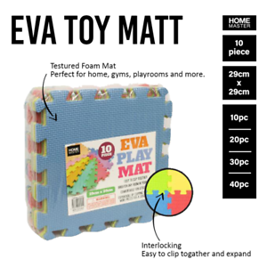 10-40PcsInterlocking Duty EVA Foam Gym Flooring Floor Yoga Mats Tile AU Stock