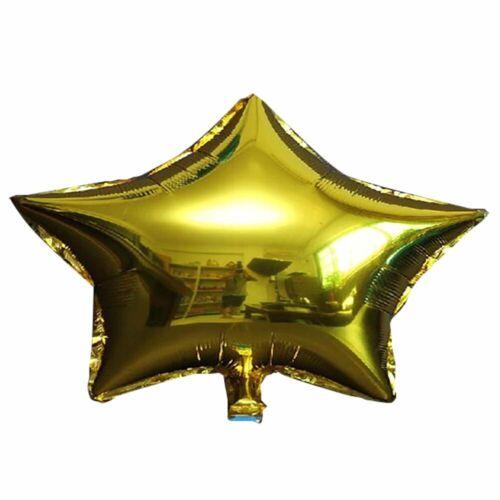 "10pcs 18/"" Big Star Foil Balloon Birthday Wedding Baby Shower Party Decoration"