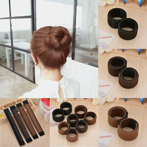 Women-Girls-Hair-Styling-Donut-Former-Foam-French-Twist-Magic-Bun-Maker-DIY-Tool