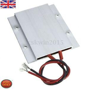 12v 60w 180c Aluminium Ptc élément Chauffant Thermostat Radiateur Assiette 77 X