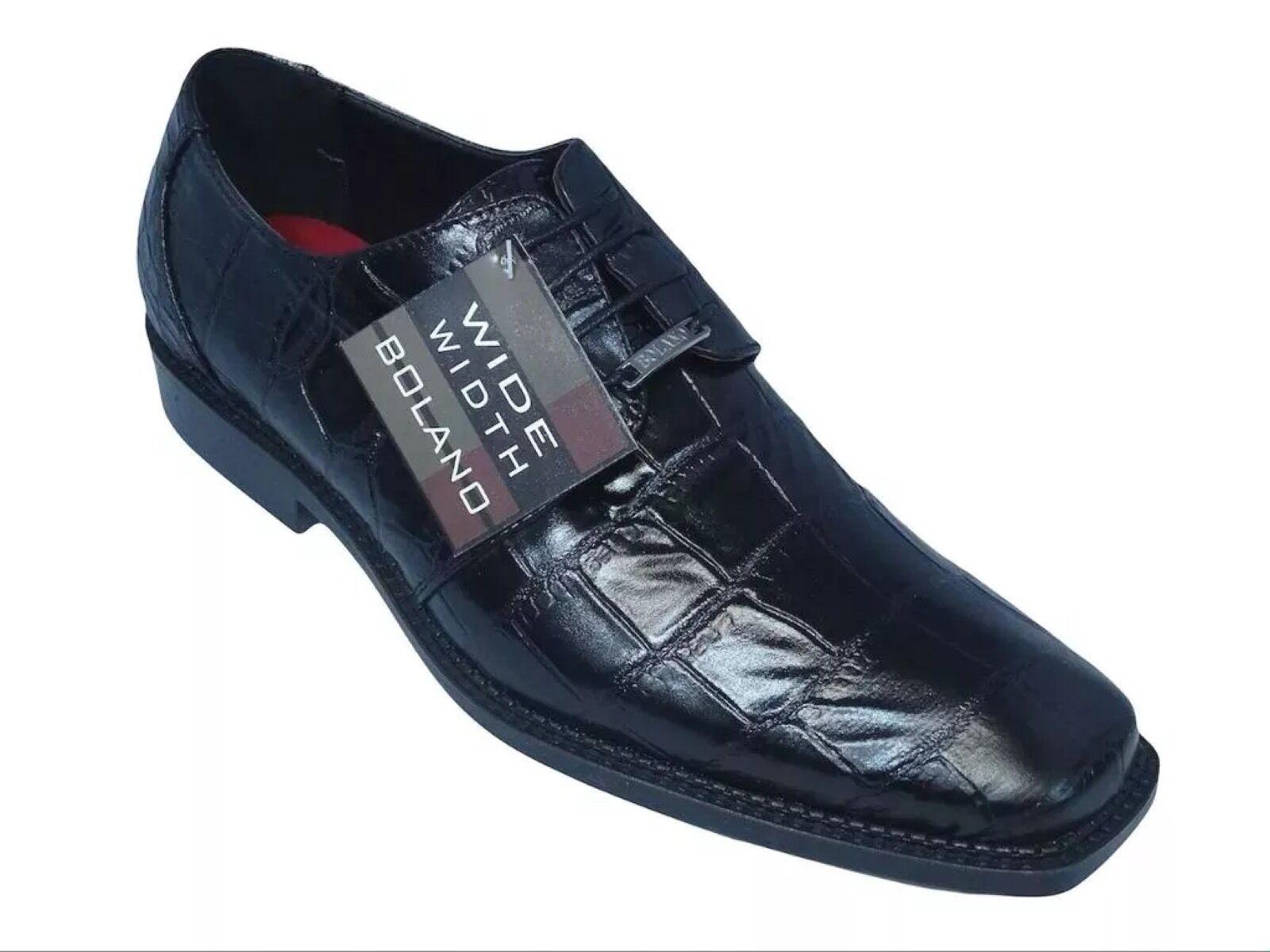 Herren Formelle Schuhe Bolano Großer Block Gator Aufdruck, Oxford, Breit Breite