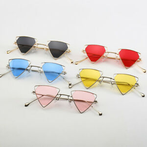Women-Men-Metal-Retro-Shades-Sun-Glasses-Vintage-Steampunk-Triangle-Sunglasses