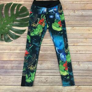 Reebok Crossfit Womens Activewear Pants Leggings Size S Reversible Jungle Print
